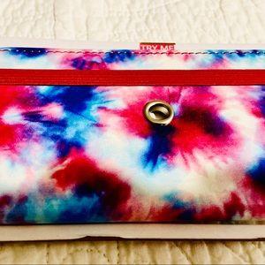 Tie dye large folio case for I phone 8 plus more